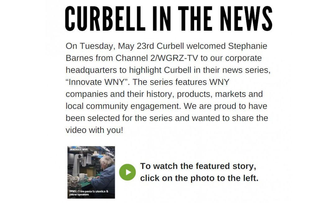 "Curbell in the News – Channel 2 ""Innovate WNY"" News Series"