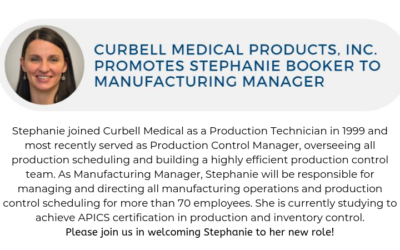 Curbell Medical Products, Inc. Promotes Stephanie Booker to Manufacturing Manager