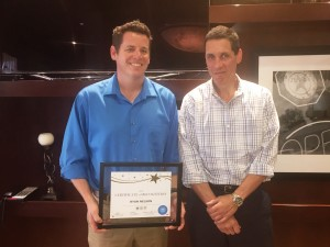 Values in Action – Congratulations Ryan Nelson!